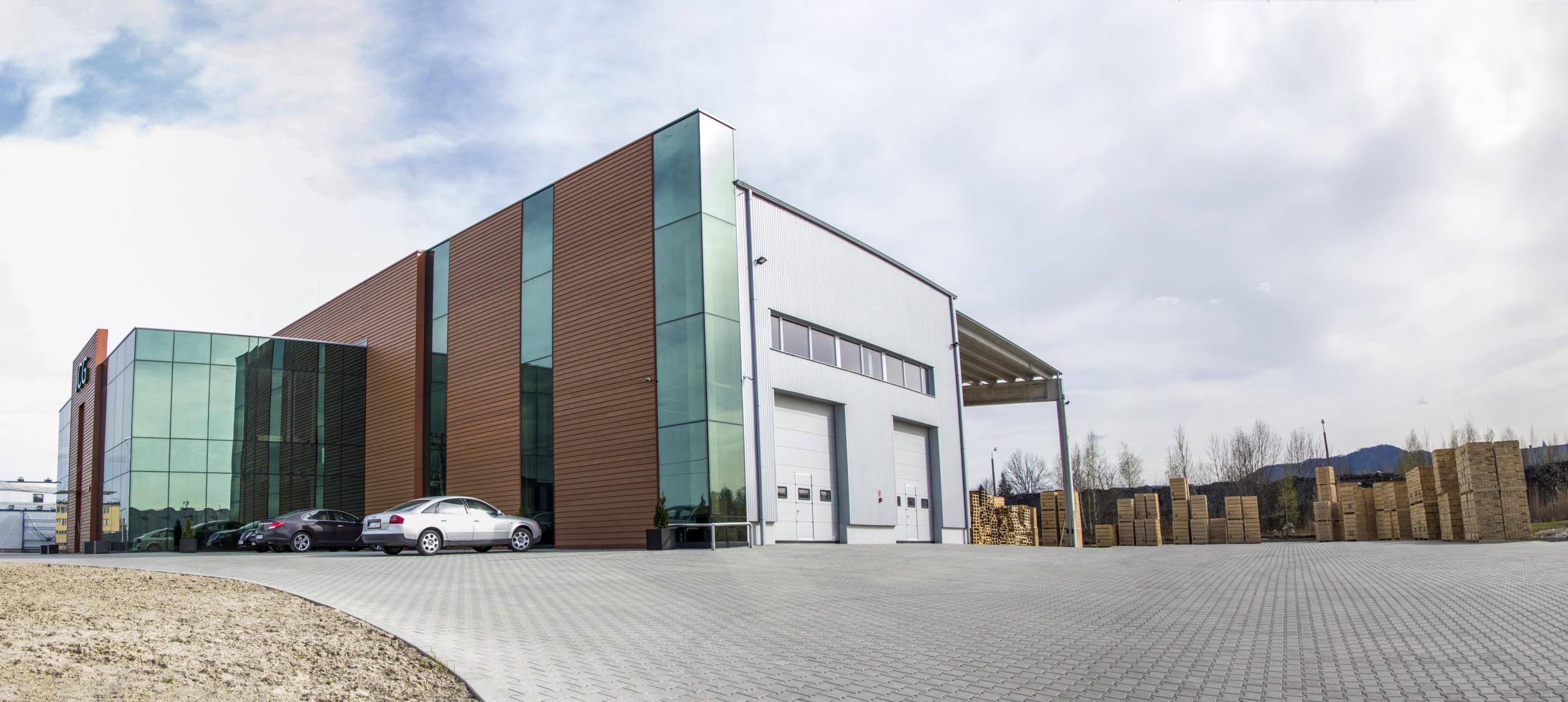 Siedziba firmy JCG Palety Andrychów